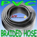 "30Mtr Coil - 32mm 1 1/4"" Reinforced Clear PVC Braided Hose"
